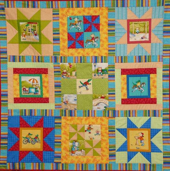At the Park by Corinne Schroeder<br /> free pattern with purchase of kit.