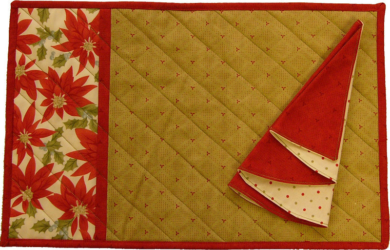 Placemats and Napkins<br /> kits available with instructions