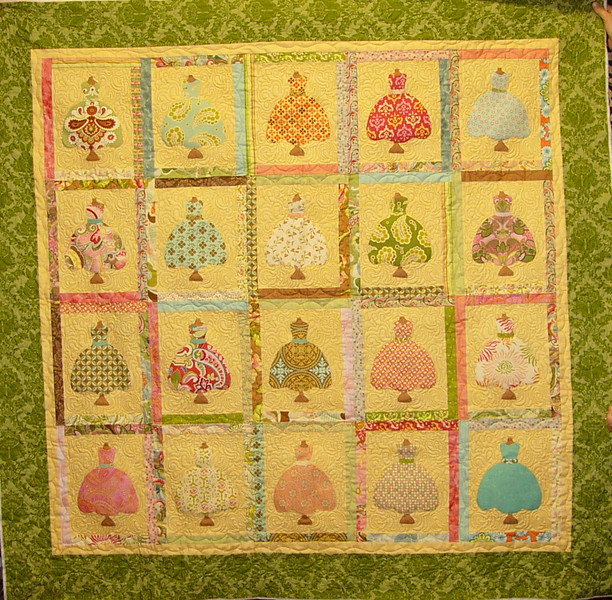 Quilt by Megan Shein. This was the 1000th quilt quilted by Kay Geise!