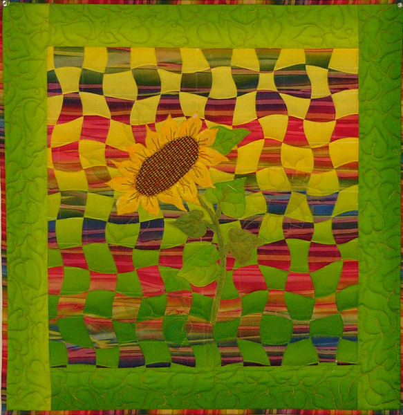Woven Sunflower by Corinne Schroeder<br /> class,and book available