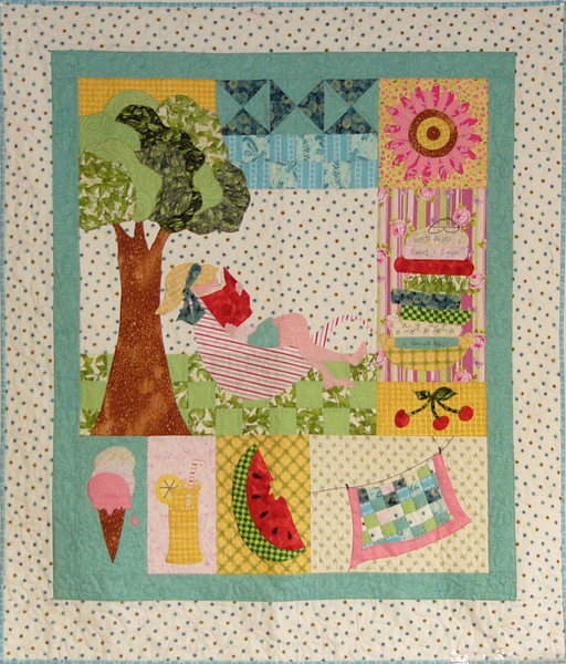 Becolourful Day by Corinne Schroeder<br /> pattern and fabric available