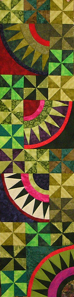 Christmas Pickle by Kami Wickham<br /> Get ready for Christmas with this fun and addicting quilt. <br /> Book and class available.