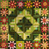 Log Cabin Floral by Corinne Schroeder<br /> book,kit and class available