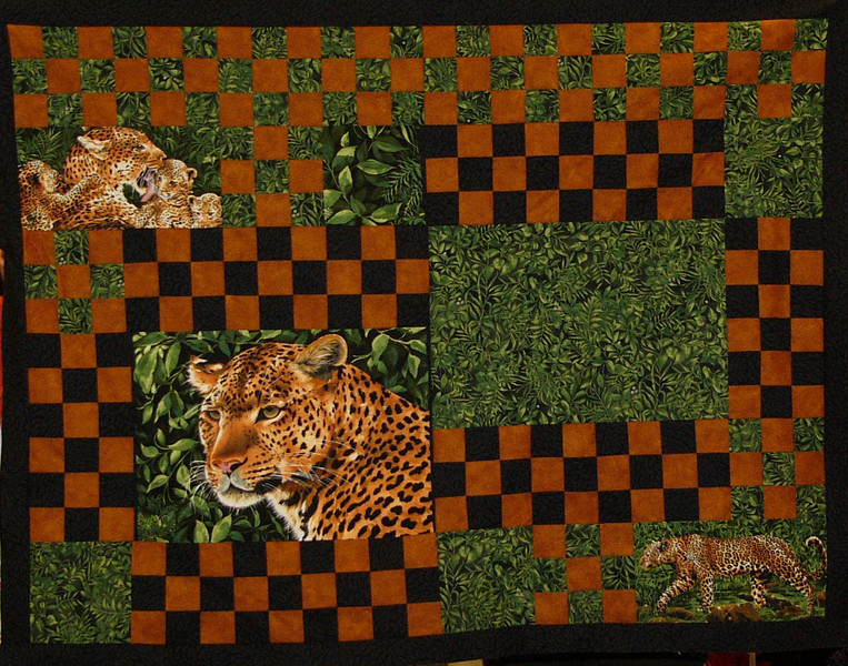 Leopards quilt by Nancy Bailey<br /> <br /> book and kit available