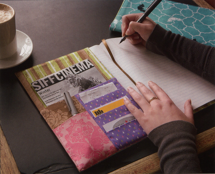 Novella Composition Book Cover. Class available as part of the Handmade Club taught by Kim Parker.