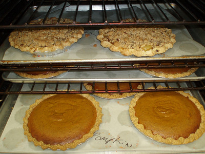Pies are in the oven