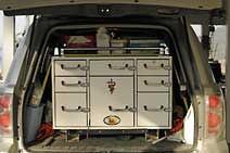One of the mobile veterinary trucks