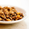 Granola!  Ours is toasted with olive oil and local maple syrup, just the right touch of crunch is added from juicy pistachios.  We round that out with plump apricots.  Great with organic yogurt.