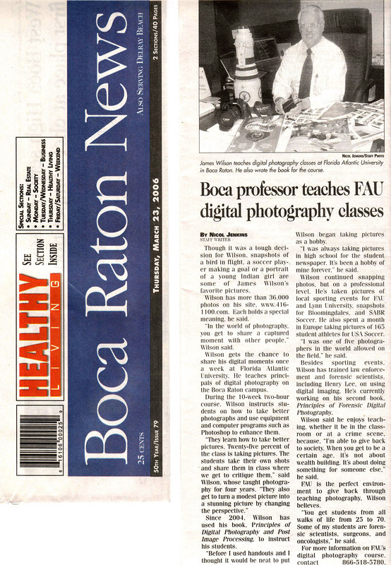 Boca News Story 23-Mar-2006 Digital Photography course at FAU