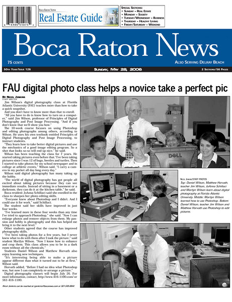 Boca News May 28, 2006 Sunday Digital Photography class 300dpi