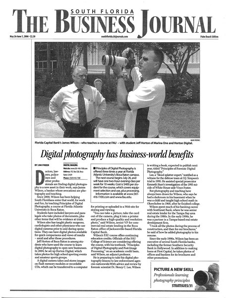 South Florida Business Journal 26-May-2006 FAU Wilson story