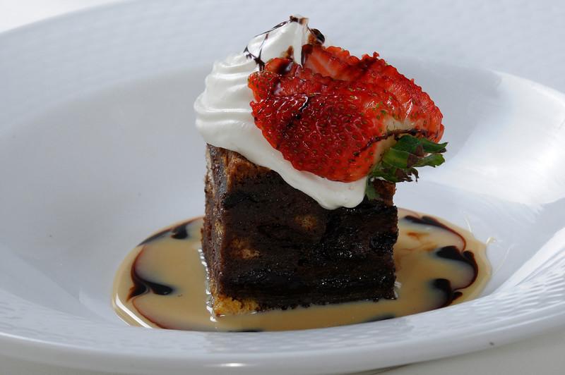 Chocolate & cherry bread pudding