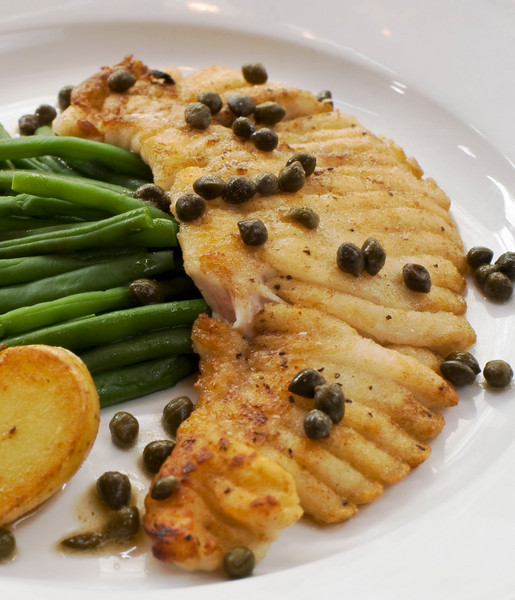 Skatefish with Brown Butter Caper Sauce a