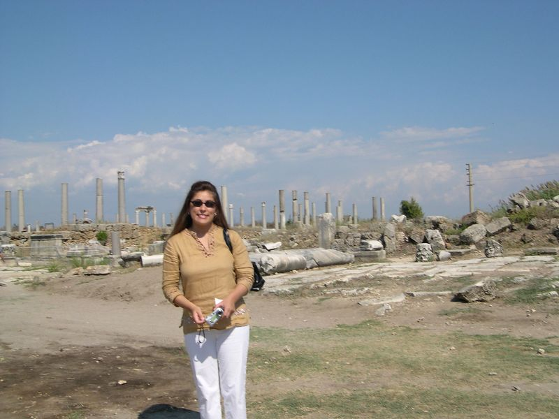Marcia near the market at Perge