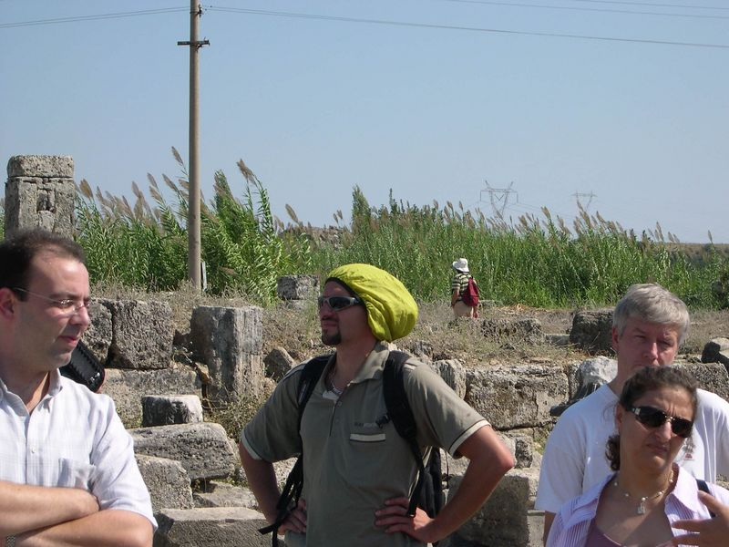 Course participants (Sami, Victor, Jan) at Perge
