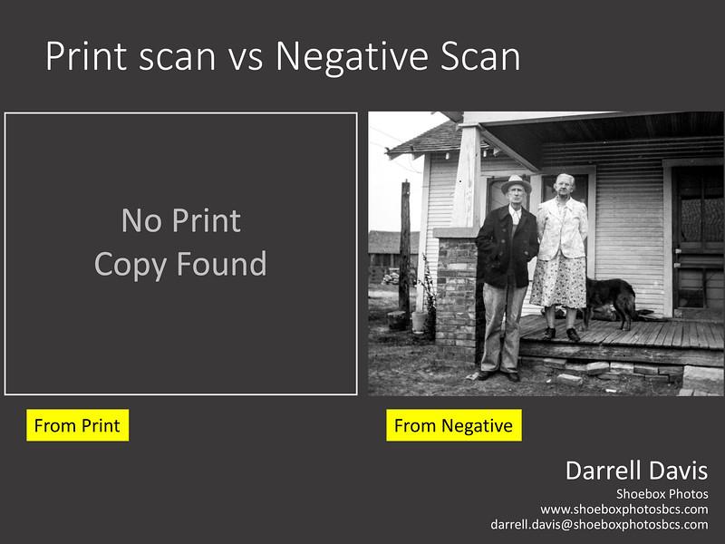 Print scan vs Negative Scan