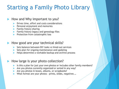 Creating and Maintaining a Family Photo Library