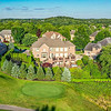 Aerial backyard & golf course