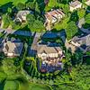 Aerial neighborhood from back