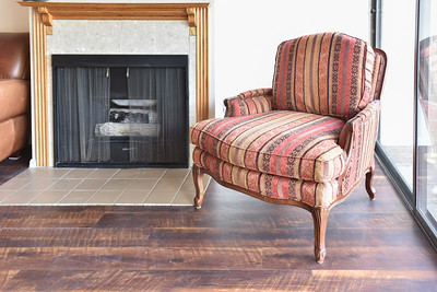 Toast your toes at this Gas fireplace