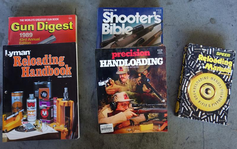 Reloading books, plus a couple classics.