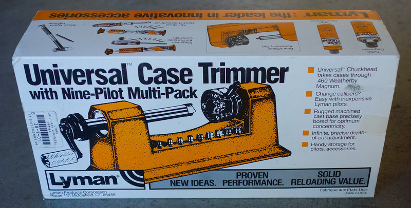 Lyman #7862000 Universal Case Trimmer with 9 pilots