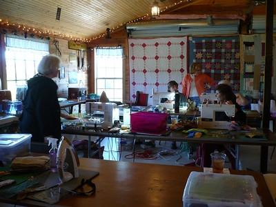 Quilting on the Blue Ridge, April 2009