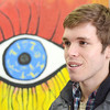 SENTINEL&ENTERPRISE/Ashley Green -- Ryan Gardell, Resident Artist and Co-Founder, speaks about the upcoming one year anniversary of Revival Gallery opening it's doors at 713 Main Street in Fitchburg.