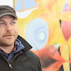 SENTINEL&ENTERPRISE/Ashley Green -- Tim Daost, Resident Artist, speaks about the upcoming one year anniversary of Revival Gallery opening it's doors at 713 Main Street in Fitchburg.