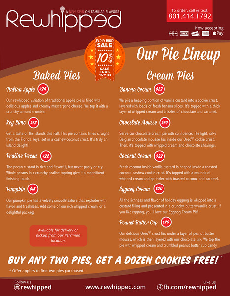 Rewhipped Pie Offer