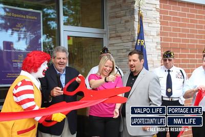 Michigan City McDonald's Grand Opening Flag Raising Ceremony & Ribbon Cutting 2015