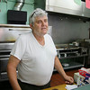 Owner of Fitchburg's Mike's Pizza on Lunenburg street Mike Karamanos talks about how the road work has affected his business this summer. SENTINEL & ENTERPRISE/JOHN LOVE