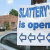 The City of Fitchburg is still working on the sewer separation project on and around Lunenburg street. They where in front of Slattery's on Tuesday. Many of the stores like Slattery's has to put up signs telling people that they are still open.  SENTINEL & ENTERPRISE/JOHN LOVE