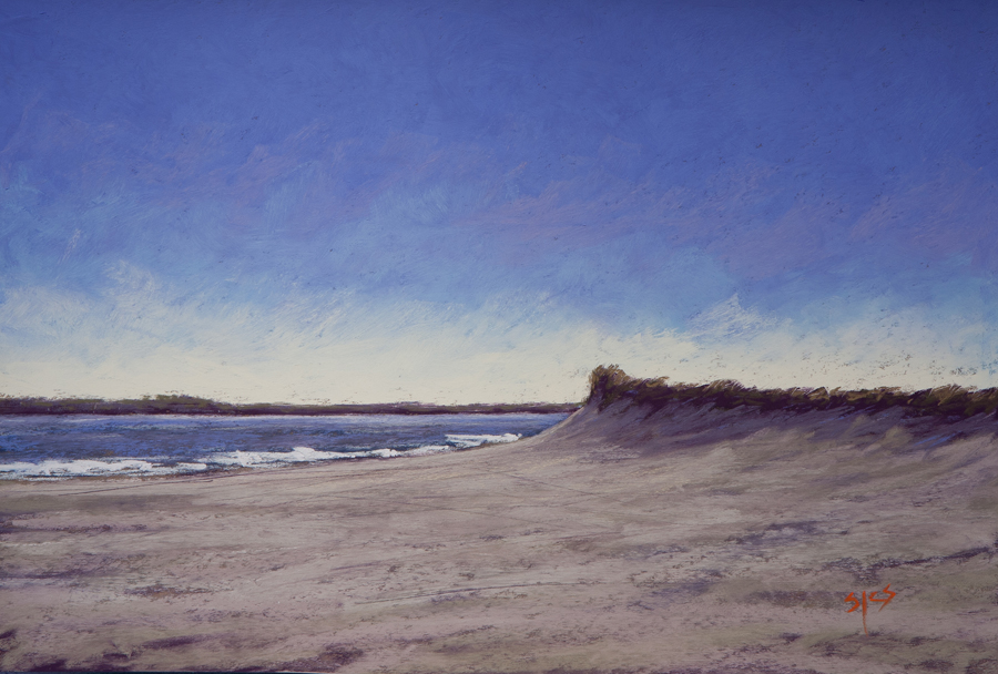 Near the Point, pastel 12x18