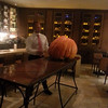 Bernie showing the team how it's done.  first you approach slowly so as not to disturb the pumpkin...