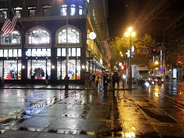 Beautiful SanFran at night in the rain