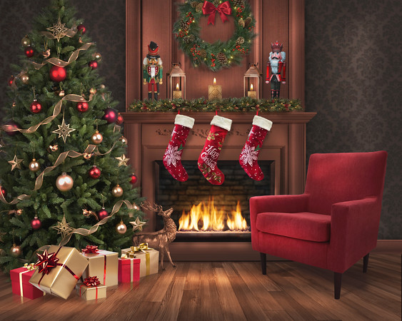 1-ChristmasEveFireplaceDigitalBackdrop