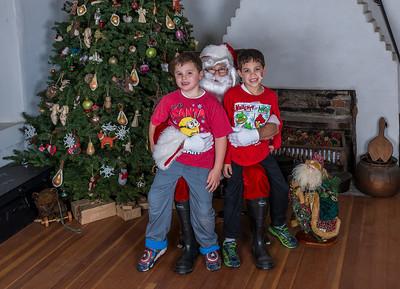 Santa Visits the Adobe