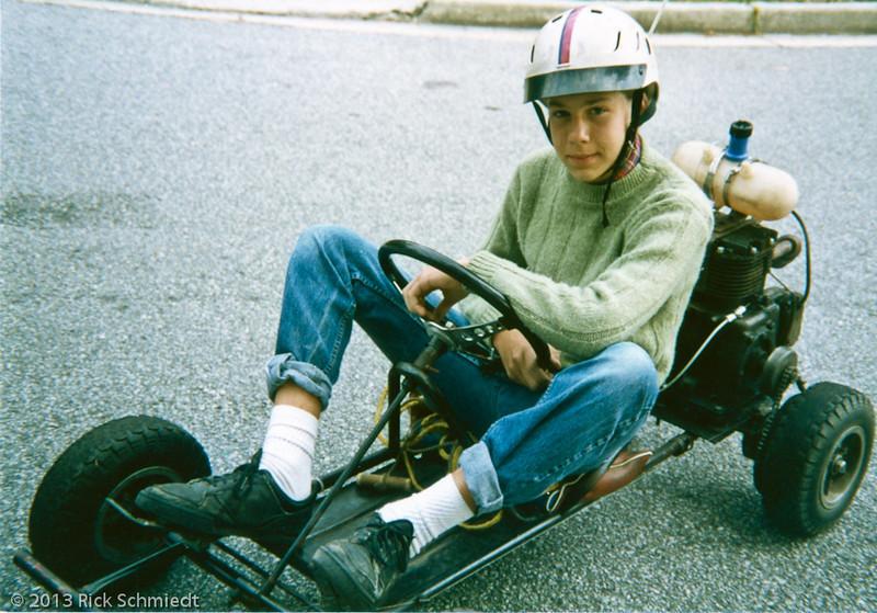 119 Dan on Go Cart with helmet023