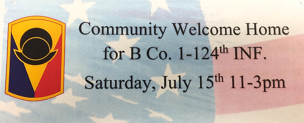 Community Welcome Home for B Co. 1-124 Inf.