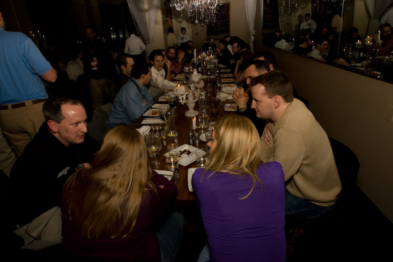 3 Mar 2008 - SharePoint MVPs and Insiders share food, wine & spirit at Barolo's Ristarante the first night of the SharePoint Conference in March of 2008.  Sean M. Dillon