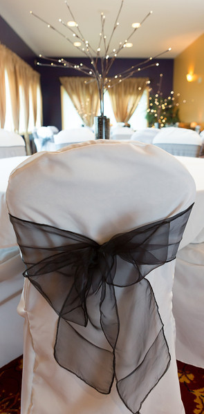 Chi Room - Chair Cover and Sash Closeup