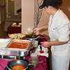 Post Office Catering Chef - Pasta Station in Dining Room at Sigmas Open House