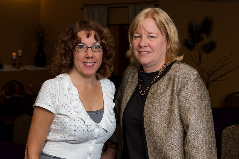 Christina & Cindy - Guests at Sigmas Open House in Alpha Room