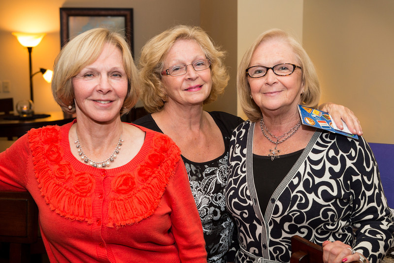 Vicki, Kathy, Louise at Sigmas Open House in Lounge