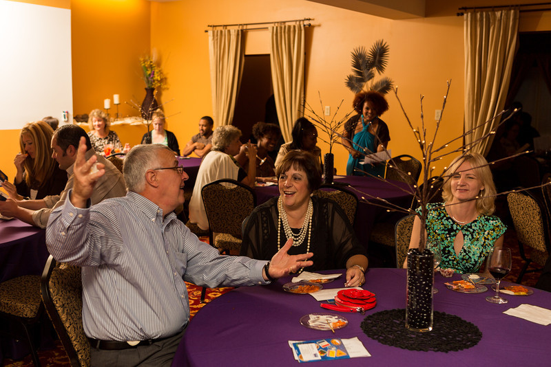 Guests at Sigmas Open House - in Alpha Room