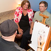 Guests at Sigmas Open House in Lounge Getting Caricature Drawn