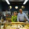 KRISTOPHER RADDER - BRATTLEBORO REFORMER<br /> Lamont Barnett and Pam Parant, owners of Rock and Hammer in Bellows Falls.