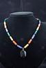 "Onyx, Lapis, Malachite, Mixed Jasper 16.5"" necklace"