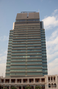 Solar powered Skyscraper in Hong Kong - Tsim Sha Tsui, Kowloon, Hong Kong, China, Asia - Details: Adress: One Peking Road, Height 160m, 525ft, construction 2000 -   2003; 30 floors, 4 Basemant Floors. This was the first skyscraper in Hong Kong to power with solar energy.